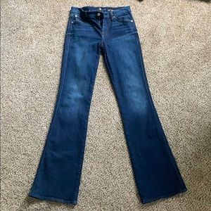 "7 of all mankind A pocket flares sz 27 33"" inseam"